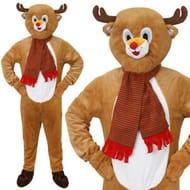 Adult Dress Up Full Rudolph The Reindeer Costume - £14.99 Delivered