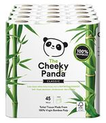 The Cheeky Panda Luxury Sustainable Bamboo Toilet Roll Tissue Paper 45 Rolls