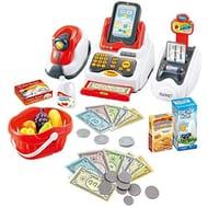 Till Toy for Kids Pretend & Play Supermarket Cash Register Set with Scanner