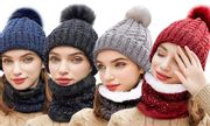 Women's Soft Fleece Hat and Neck Warmer 41% OFF