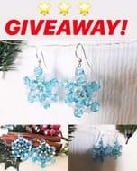 Win Handmade Snowflake Earing Giveaway