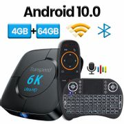 Transpeed Android TV Box - Android 10, 4GB RAM, 32GB ROM