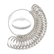 VPbest Ring Sizer Metal Gauge Set with Plastic Finger Sizing Belt