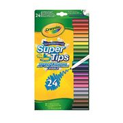 HALF PRICE Crayola SuperTips Washable Felt Tip Colouring Pens, Pack of 24
