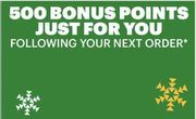 500 Bonus Points When Buying Anything via App/In Store at Subway