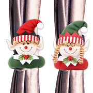 50% off Christmas Elf Curtain Tiebacks