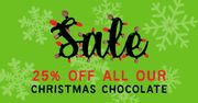 Save 25% on All Our Delicious Christmas Chocolate Range