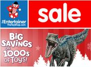 The Entertainer TOY SALE + Buy One, Get One 1/2 Price on EVERYTHING!