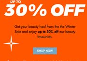 Winter Sale up to 30% off Your Beauty Faves