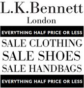 L K Bennett JANUARY SALE - EVERYTHING HALF PRICE, OR LESS!