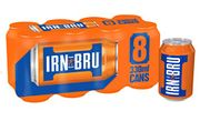 IRN-BRU Fizzy Drink Cans, 330ml, (Pack of 8
