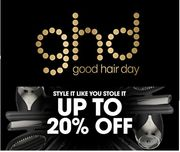 GHD January Sale - up to 20% off Ghd Hair Styling Tools & Brushes