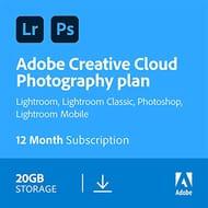 Adobe Creative Cloud Photography Plan 20GB: Photoshop + Lightroom | 1 Year