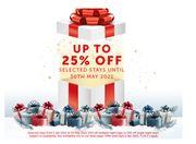 Up to 25% off Your 2021 Stay