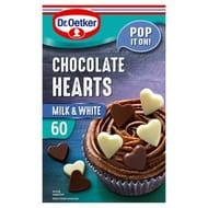 Dr Oetker Milk Chocolate & White Chocolate Hearts