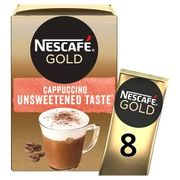 Nescaf Gold Cappuccino Unsweetened 8x14.2g + Other Flavours