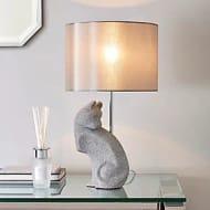 Prescilla Diamante Cat Table Lamp