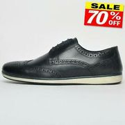 Men's REAL LEATHER Formal Smart Dress Brogue Fashion Shoes
