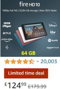 "SAVE £55 - Fire HD 10 Tablet | 10.1"" 64 GB, with Ads (ALL COLOURS)"