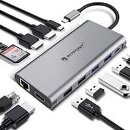 Docking Station, 12 Ports USB C Hub Triple-Display USB C