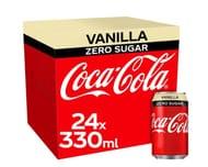 Coca Cola Zero Sugar Vanilla Soft Drink 24 X 330Ml/ Clubcard Price £6