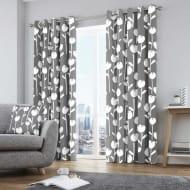Alabar Ready Made Eyelet Curtains Grey