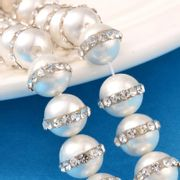 Freshwater Pearl with Crystal Band 12mm