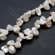 "Freshwater Pearls 15mm Freeform White - 14"" String"
