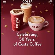 50% off Food and Sweet Treats at Costa Monday to Wednesday