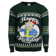 Cheap Fallout Happy Holidays Knitted Christmas Jumper at My Geek Box