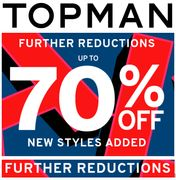 TOPMAN SALE - FURTHER REDUCTIONS - Now up to 70% OFF