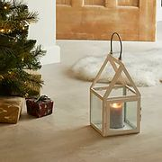 White House Lantern with Silver Handle Click & Collect