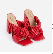 EGO - 87% off Red Block Heeled Mules