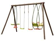 B&Q Burinka Wooden Swing Set Now £138