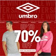 UMBRO SPORTS SALE - up to 70% off Fashion, Fitness, Football >>>