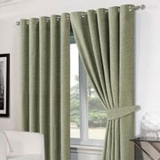 "Chenille Eyelet Blackout Curtains 46""x54"" - Soft Green"