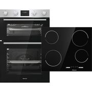 Hisense BI6095CXUK Built in Electric Double Oven & Ceramic Hob Pack - Only £379!