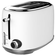 Linsar KY865WHITE 2 Slice Toaster in White - 6 Heat Settings