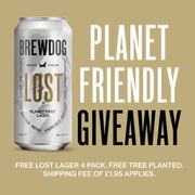 Free 4 Pack of Brewdog Lost Lager, Just Pay Postage