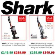SHARK SALE - save £100s on Shark Vacuum Cleaners