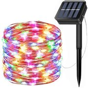 200 LED Multicoloured Solar String Lights with 8 modes - Only £3.59!