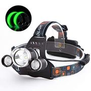 4 Modes USB Charging Waterproof Flashlight Head Lights with Free LED Armbands