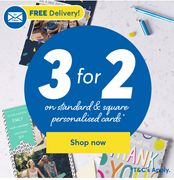 3 for 2 Offer on Personalised Cards