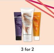 3 for 2 on Selected Sanctuary Spa/ Spend £20 Get £2.50 Off Code 6RT2HJ3