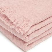 M&S Pink Faux Mohair Throw, Small 130 X 170cm