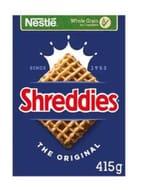 Nestle Shreddies Original Cereal 415G - Clubcard Price - Only £1.05!