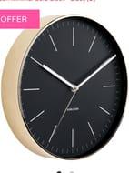 Karlsson Minimal Gold Clock