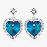Blue Heart Earrings. Less than Half Price