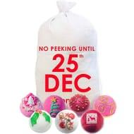 Bomb Cosmetics No Peeking until 25th Dec Sack - Free Delivery
