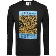 Adidas Originals Long Sleeved T Shirt Black